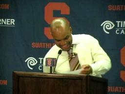 SU coach Quentin Hillsman talks about win over Ohio U.