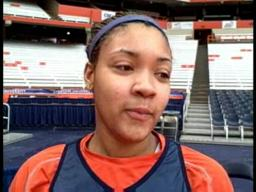 Syracuse University's Vionca Murray Shooting Free Throws