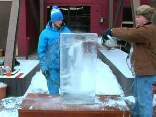 Ice Carving at Winterfest 2009: Two Hours in Two Minutes