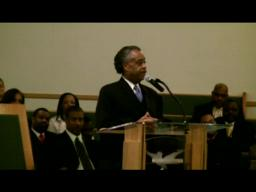 Rev. Sharpton at Tucker Missionary Baptist Church