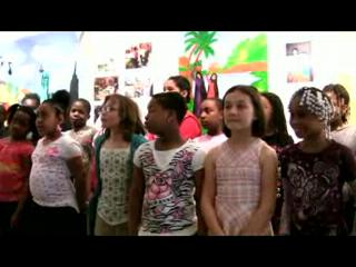 Van Duyn Elementary School kids sing at ArtRage Gallery