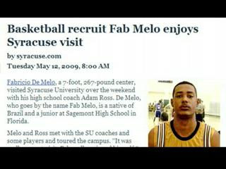 Mike Waters on SU Basketball Recruit Fab Melo