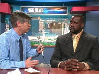 Shaquille O'Neal at Syracuse University's Sportscaster U