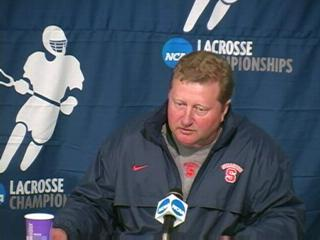 2009 NCAA Men's Lacrosse Championships:  SU post-game news conf