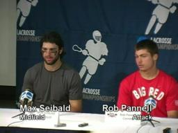 2009 NCAA Men's Lacrosse Championships: Cornell post-game news