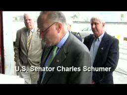 U.S. Senator Schumer talks about Oswego Seawall Funding