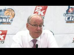 Coach Boeheim on the Orange over Albany, 75-43