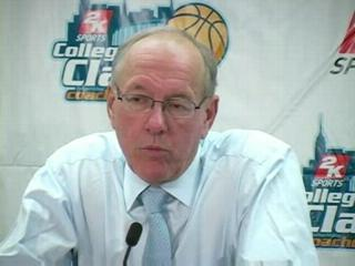 Syracuse vs. Robert Morris basketball:  Coach Jim Boeheim