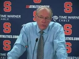 Syracuse vs. Cornell basketball:  Coach Jim Boeheim