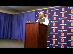 SU coach Hillsman's Wagner Post-game Press Conference