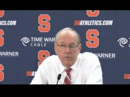 Coach Boeheim on the Orange win over Oakland, 92-60