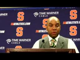 SU coach Quentin Hillsman Delaware State Post-game Press Conference