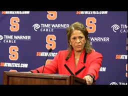 Rutgers Coach C. Vivian Stringers Syracuse Post-game Press Conference