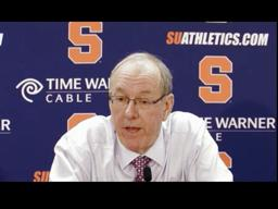 Syracuse vs Louisville Basketball: Coach Jim Boeheim