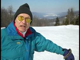 Skier Walter Maier with David Figura, The Post-Standard's outdoors editor
