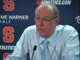Syracuse vs. Villanova men's basketball - Coach Boeheim (part 1)