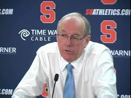 Syracuse vs. St. John's men's basketball - coach Boeheim (part 1)