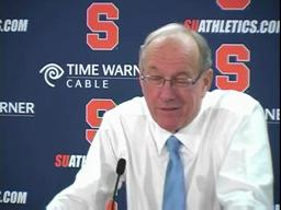 Syracuse vs. St. John's men's basketball - coach Boeheim (part 2)