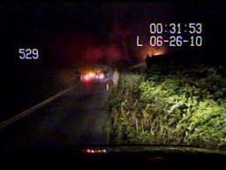 Rescue from burning vehicle in Bushkill Township