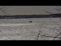 Muskegon Lake ice rescue