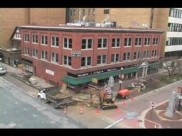 Ruptured gas line in Downtown Kalamazoo