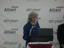 Gov. Jennifer Granholm talks about military service at Stryker