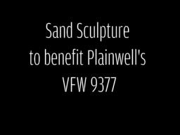 Plainwell Sand Sculpture