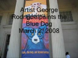 George Rodrigue paints the blue dog
