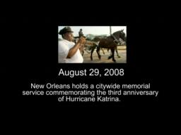 Hurricane Katrina Third Anniversary Memorial