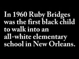 Ruby Bridges, an icon of New Orleans integration, will witness ...