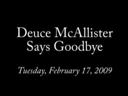 Deuce McAllister Says Goodbye