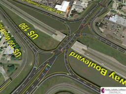 crisscrossing interchange at Louisiana 22