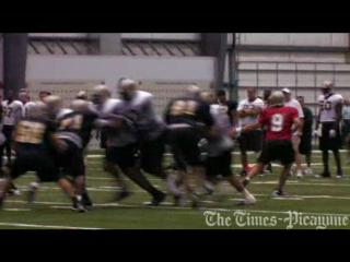 Video: New Orleans Saints practice August 12, 2009
