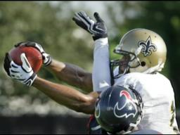 Saints practice against the Houston Texans Aug. 19, 2009