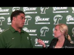 Tammy Nunez and Tulane center Andrew Nierman preview of Southern Miss game