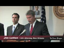 Jim Letten announces indictments against Greg Meffert