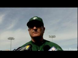 Tulane baseball coach Rick Jones at media day