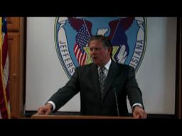 Sheriff Newell Normand press confence concerning Steven Seagal