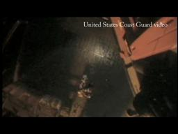 Coast Guard video of rescues at drilling rig explosion