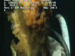 Oil spill video: First video from the blow out preventer leaks
