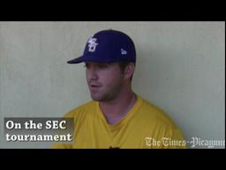 LSU first baseman Blake Dean on the SEC baseball tournament