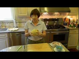 Judy's Kitchen: Cutting up cantaloupe