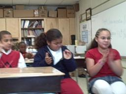 MLK Elementary kids watch inauguration