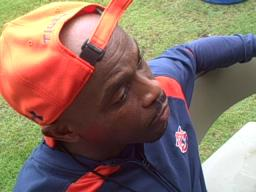 Auburn receivers coach Greg Knox
