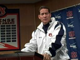 Auburn head coach Gene Chizik talks about Antoine Carter