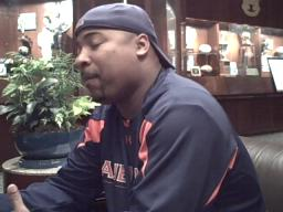 Auburn receivers coach Trooper Taylor