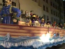 GMAC Bowl Mardi Gras parade in Mobile
