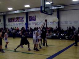 Foley's Brittney Davis scores against Bayside despite being fouled