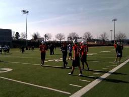 Auburn quarterbacks in spring practice