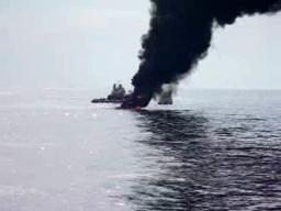 Coast Guard video shows part of oil spill burn